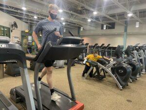 Person on treadmill at RecPlex